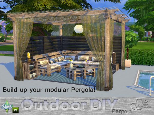 DIY Modular Pergola by BuffSumm at TSR image 781 Sims 4 Updates