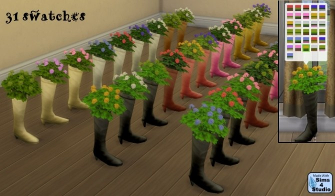 Repurposed boot with plant by OM at Sims 4 Studio image 786 670x392 Sims 4 Updates