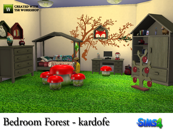 Bedroom Forest by kardofe at TSR image 789 Sims 4 Updates