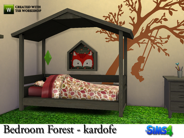 Sims 4 Bedroom Forest by kardofe at TSR