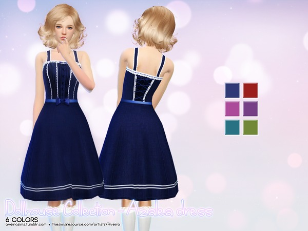 Dollhouse Collection Azalea dress by Aveira at TSR image 8010 Sims 4 Updates