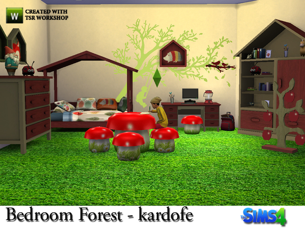 Bedroom Forest by kardofe at TSR image 807 Sims 4 Updates