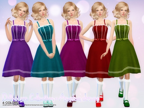 Dollhouse Collection Azalea dress by Aveira at TSR image 8116 Sims 4 Updates