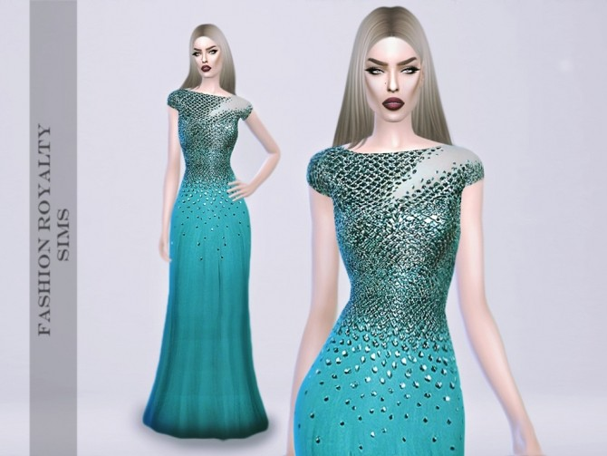 Mermaid Gown At Fashion Royalty Sims 187 Sims 4 Updates