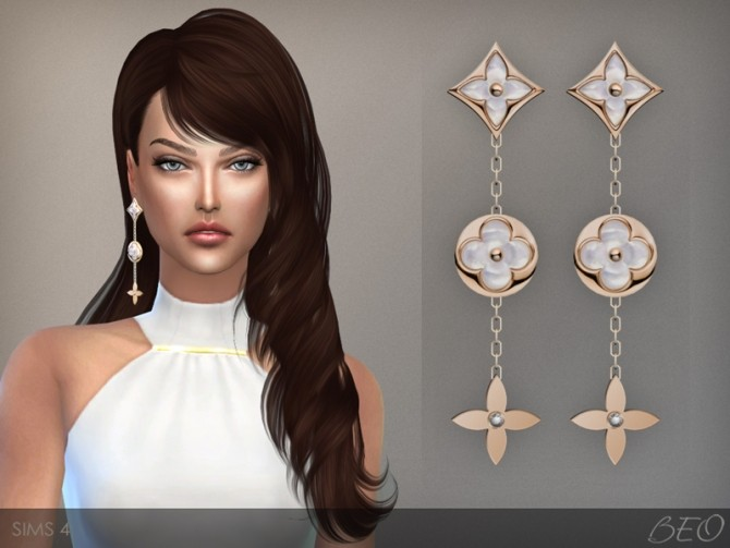LV MONOGRAM PERLE EARRINGS at BEO Creations image 8310 670x503 Sims 4 Updates