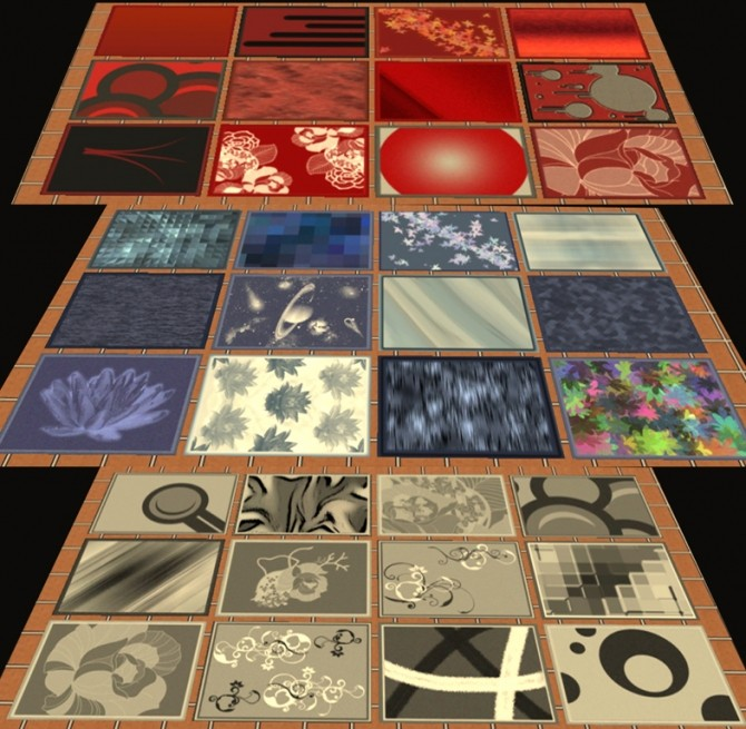 36 4x3 rugs by simmiller at mod the sims sims 4 updates for Living room 4x3