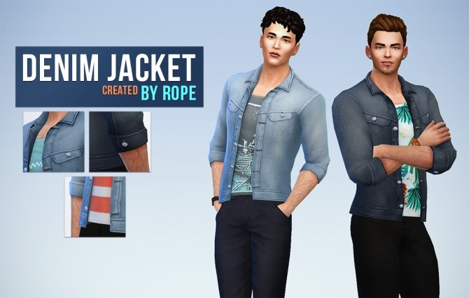 Denim Jacket by Rope at Simsontherope image 8510 670x427 Sims 4 Updates