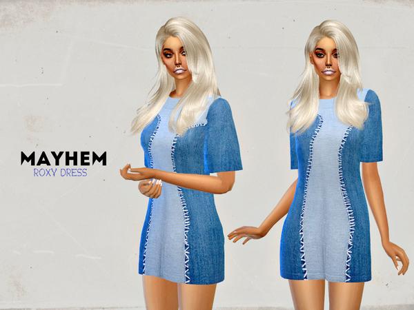 Sims 4 Roxy Dress by NataliMayhem at TSR