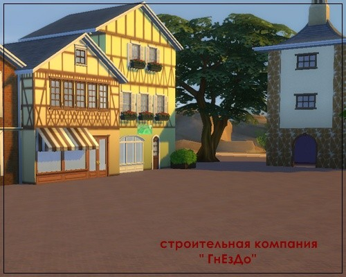 Sims 4 Streets quarter wallpaper at Sims by Mulena