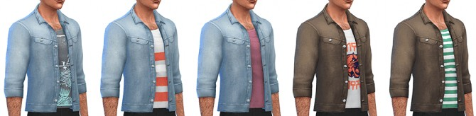 Denim Jacket by Rope at Simsontherope image 86 1 670x164 Sims 4 Updates
