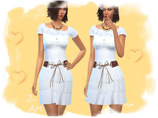 Sims 4 Last Summer Day dress by Zuckerschnute20 at TSR