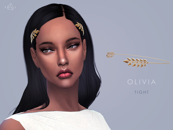 Sims 4 Olive Leaves Headband by starlord at TSR