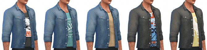 Denim Jacket by Rope at Simsontherope image 87 1 670x164 Sims 4 Updates