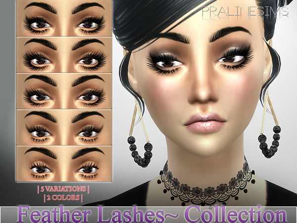 Feather Lashes Collection N17 by Pralinesims at TSR image 87 Sims 4 Updates
