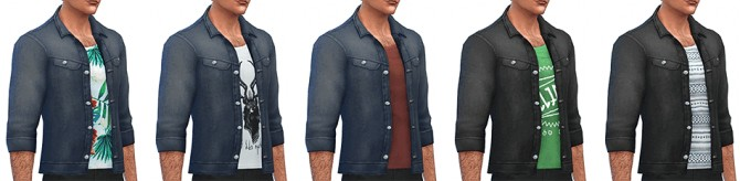 Denim Jacket by Rope at Simsontherope image 88 1 670x164 Sims 4 Updates