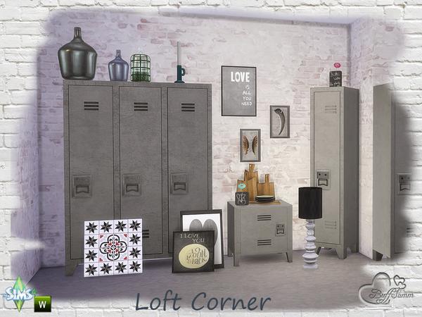 Loft Corner by BuffSumm at TSR image 880 Sims 4 Updates