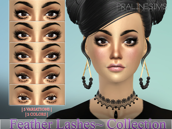 Feather Lashes Collection N17 by Pralinesims at TSR image 881 Sims 4 Updates