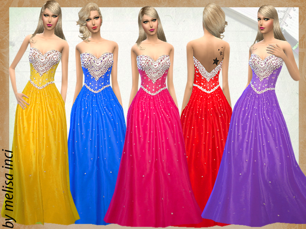 Sims 4 Crystal Beading On Ball Gown by melisa inci at TSR