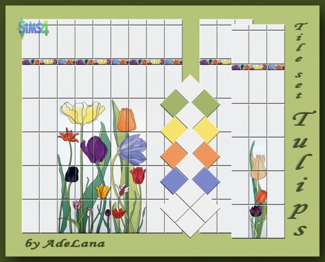 Tile set Tulips by AdeLanaSP at Mod The Sims image 928 670x541 Sims 4 Updates