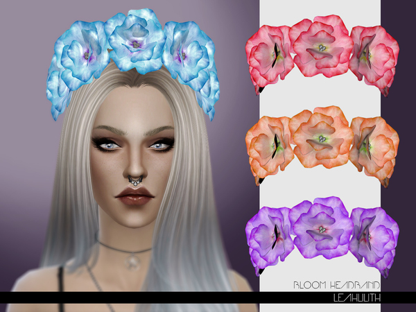 Bloom Headband by Leah Lilith at TSR image 941 Sims 4 Updates