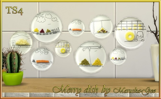 Sims 4 Merry dish decorative plates at Maruska Geo