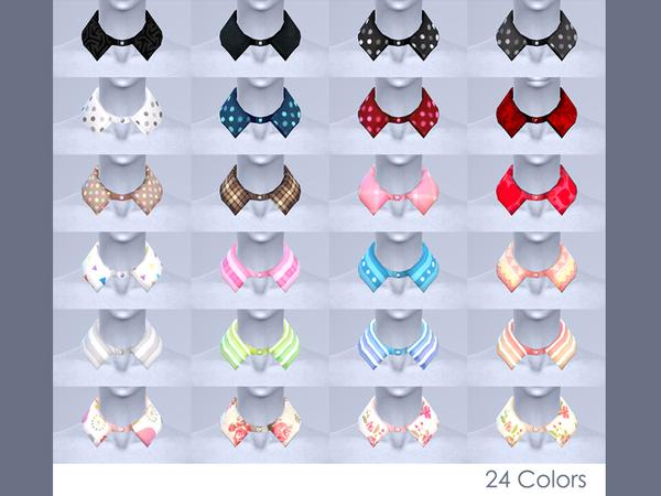 Sims 4 Cecile shirt collar by nueajaa at TSR