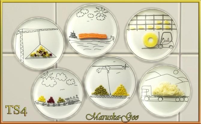 Merry dish decorative plates at Maruska Geo image 9514 670x413 Sims 4 Updates
