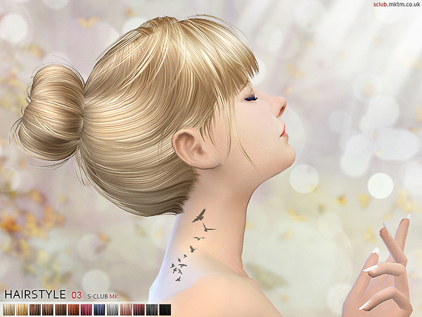 Hair N3 by S Club MK at TSR image 961 Sims 4 Updates
