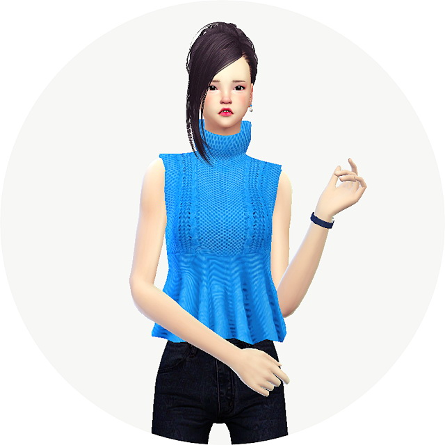 Sims 4 Flare turtleneck sweater at Marigold