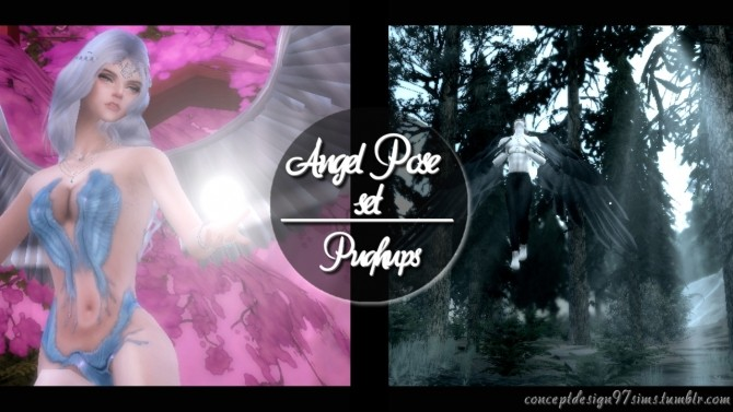 Angel Pose Set 1 2 at ConceptDesign97 image 9615 670x377 Sims 4 Updates