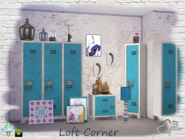 Loft Corner by BuffSumm at TSR image 970 Sims 4 Updates