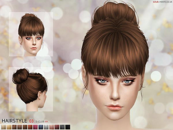 Hair N3 by S Club MK at TSR image 971 Sims 4 Updates
