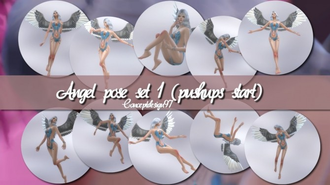 Angel Pose Set 1 2 at ConceptDesign97 image 9714 670x377 Sims 4 Updates