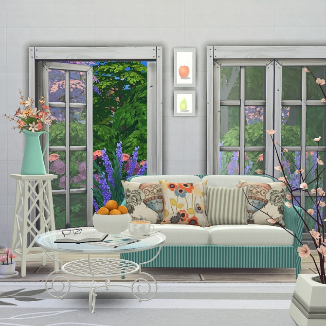 Summer breeze livingroom set at black cat phoenix sims 4 updates
