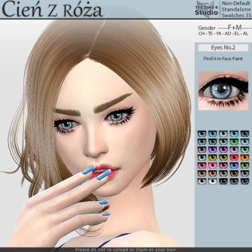 Sims 4 Eyes No.2 at Cień z róża