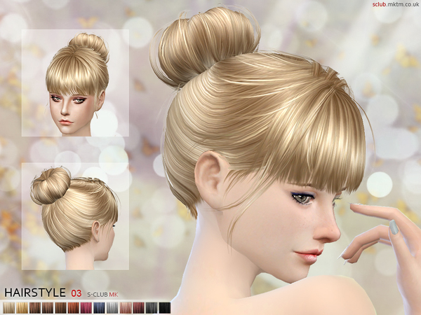 Hair N3 by S Club MK at TSR image 981 Sims 4 Updates
