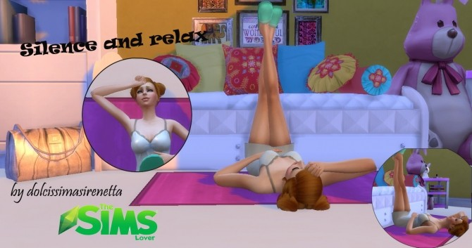Silence and relax poses by dolcissimasirenetta at The Sims Lover image 9812 670x353 Sims 4 Updates