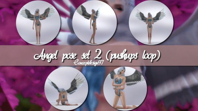 Angel Pose Set 1 2 at ConceptDesign97 image 9815 670x377 Sims 4 Updates