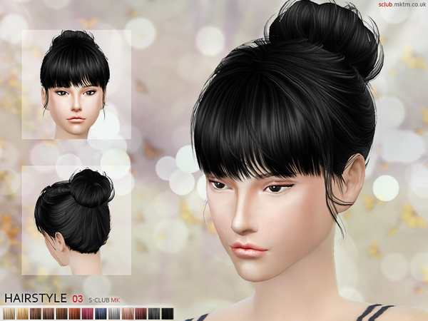 Hair N3 by S Club MK at TSR image 991 Sims 4 Updates
