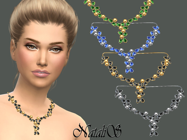 Crystals and beads necklace by NataliS at TSR image 10 Sims 4 Updates