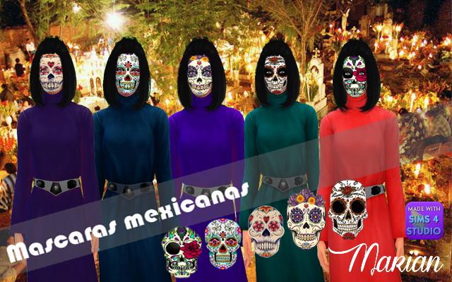 Sims 4 Mexican Masks at Marian Ezequiela