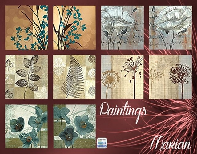 Plants paintings at Marian Ezequiela image 10119 Sims 4 Updates