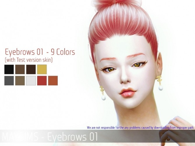 Sims 4 Eyebrows 01 at May Sims