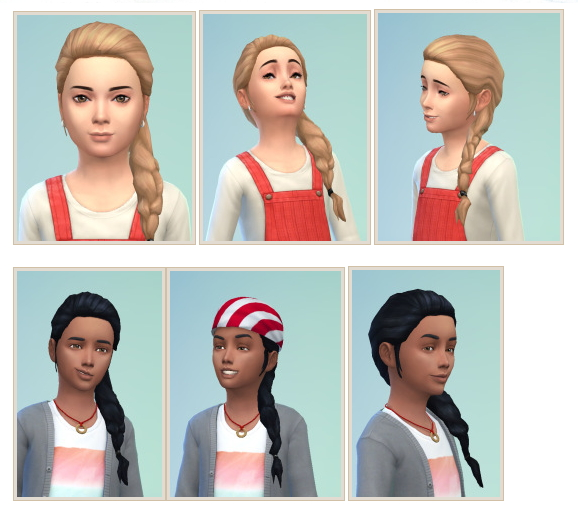 SideBraid for Kids at Birksches Sims Blog image 103 Sims 4 Updates
