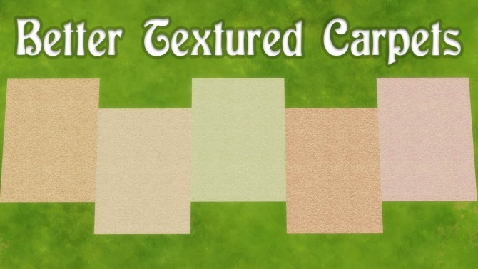 Sims 4 Better Textured Carpets by nathanbull10 at Mod The Sims