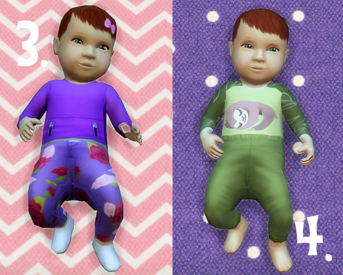 Baby Overrides: Set 4 Light Skin/Girl + Red Hair at Budgie2budgie image 1049 670x537 Sims 4 Updates