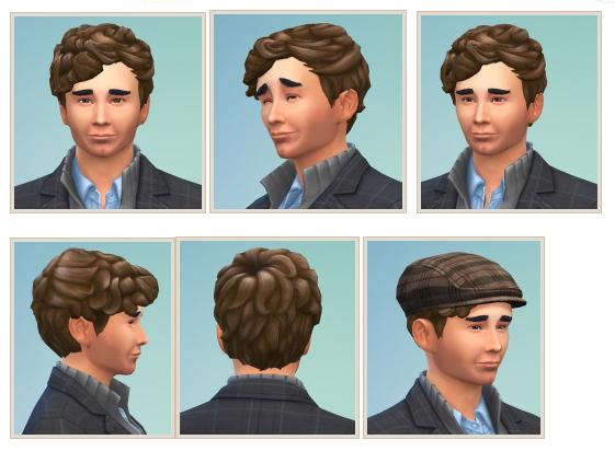 Sims 4 Columbo Hair at Birksches Sims Blog
