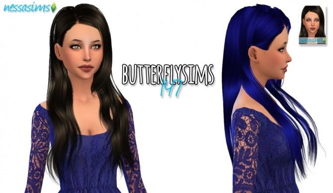 Sims 4 Butterflysims 147 hair retexture at Nessa Sims