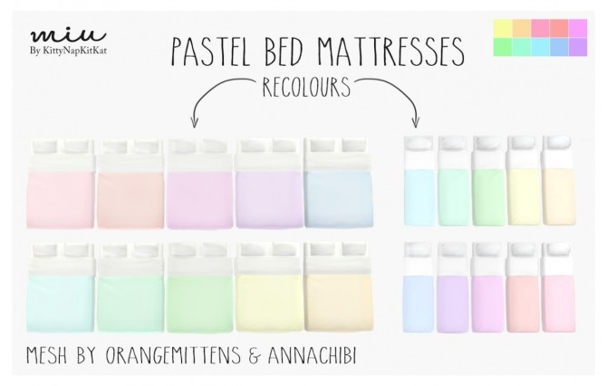 pastel bed mattresses at miu - Pastel Furniture