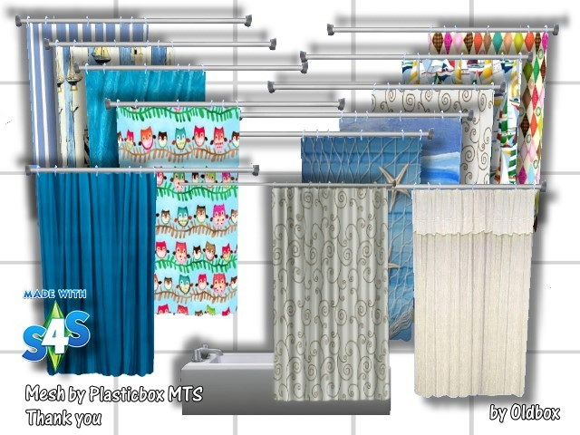 Shower Tub Curtains By OldBox At All 4 Sims
